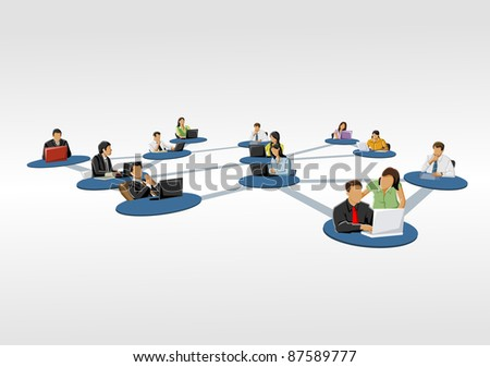 connected people. Social network.