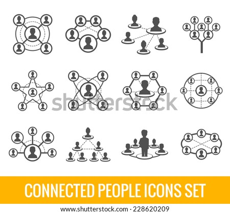 connected people social network