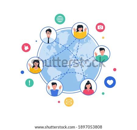 Connected world concept. Online world. Internet communication.