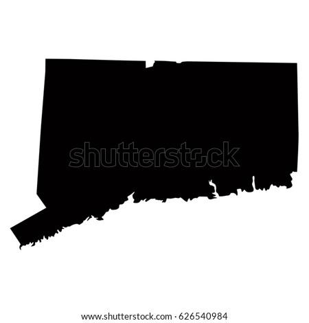 Connecticut map, vector illustration Сток-фото ©