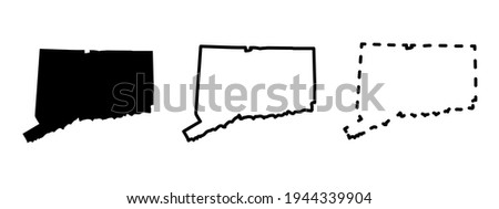 Connecticut state isolated on a white background, USA map Сток-фото ©