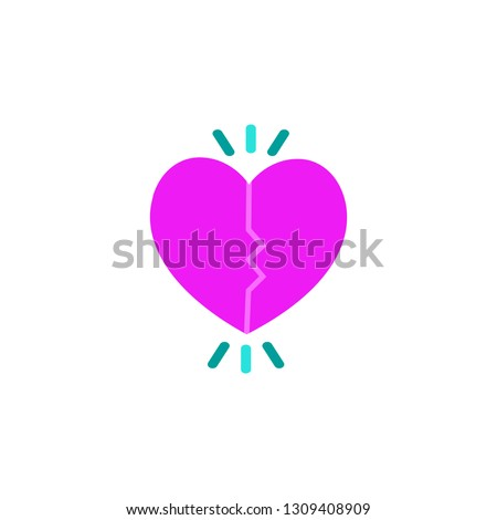 Connecting heart icon. Element of Valentine day icon for mobile concept and web apps. Detailed Connecting heart icon can be used for web and mobile