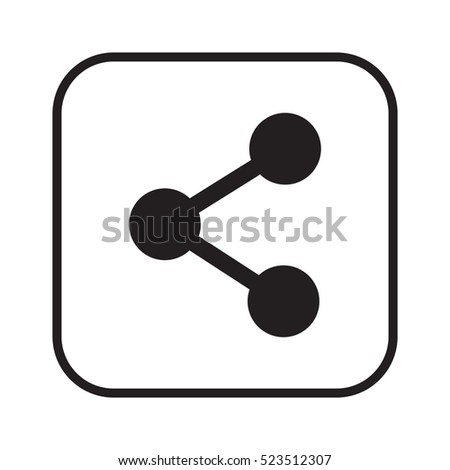 Connection   icon, isolated. Flat  design.