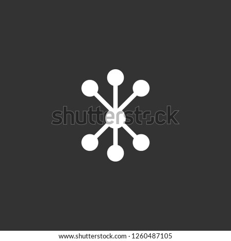 connection icon vector. connection sign on black background. connection icon for web and app