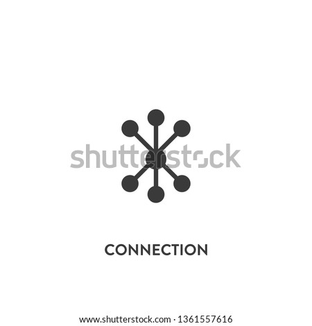 connection icon vector. connection sign on white background. connection icon for web and app