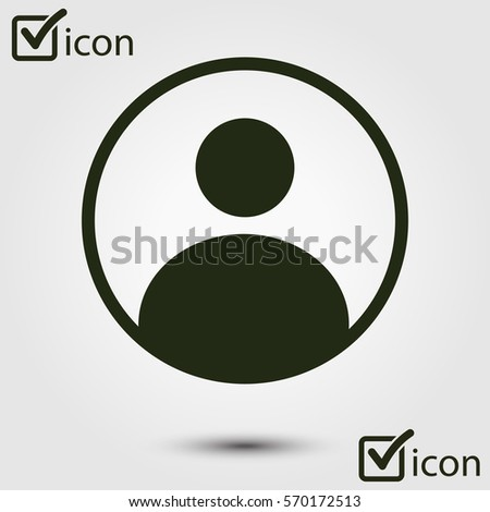 Connection mark. User sign icon. Person symbol. Human avatar.Flat style.