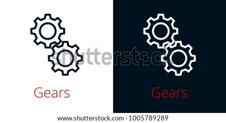 connection rotation two gears