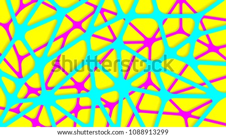 Connection structure molecule of neurons. Medicine, science and technology. Network sketch in the form of a cobweb. Vector illustration for your design. Abstract background. colorful