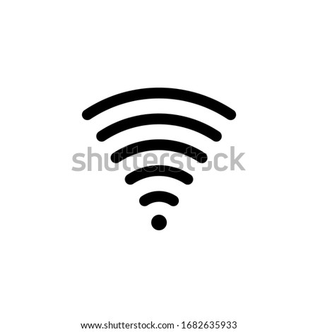 Connection symbol for the web via wifi internet. Wireless network using WiFi icon. Illustration of data communication using a WiFi wireless network. Logo for wireless network connection with WiFi tech