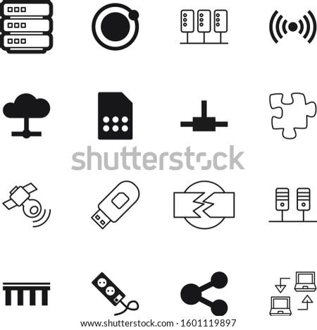 connection vector icon set such as: new, icons, planet, sync, hosting, connecting, stick, synchronize, stylish, golden, building, flash, player, connections, transfer, devices, desktop, bridge, toy
