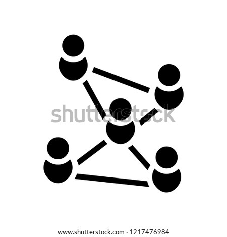 Connections icon. Trendy Connections logo concept on white background from User Interface and Web Navigation collection. Suitable for use on web apps, mobile apps and print media.