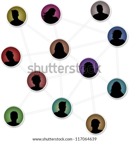 Connections - people avatars connecting