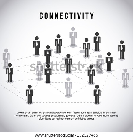 connectivity design  over gray background vector illustration