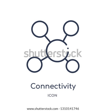 connectivity icon from user interface outline collection. Thin line connectivity icon isolated on white background.
