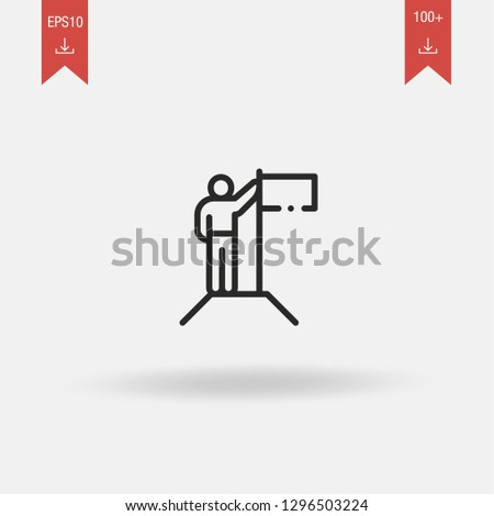 Conquer linear outline vector icon. Conquer concept stroke symbol design. Thin graphic elements vector illustration, outline pattern for your web site design, logo, app, UI. EPS 10.
