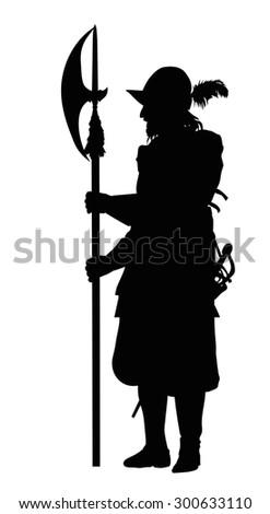 conquistador with halberd....