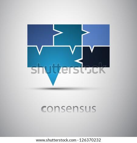 Consensus - Speech Bubble Concept