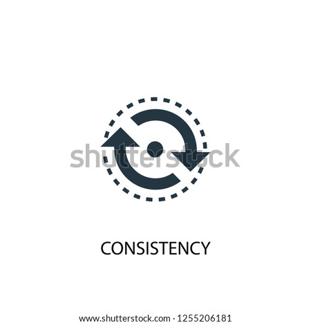 consistency icon. Simple element illustration. consistency concept symbol design. Can be used for web and mobile.