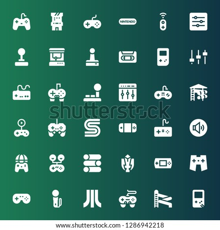 console icon set collection of