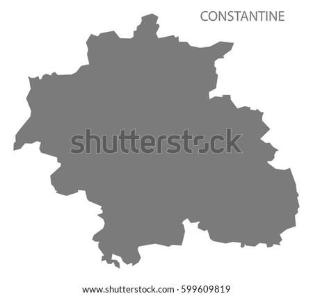 constantine algeria map grey