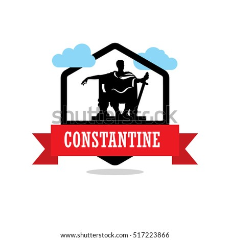 constantine ribbon banner with