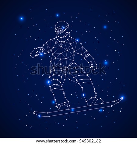 constellation   snowboarder