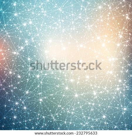 constellation with stars on