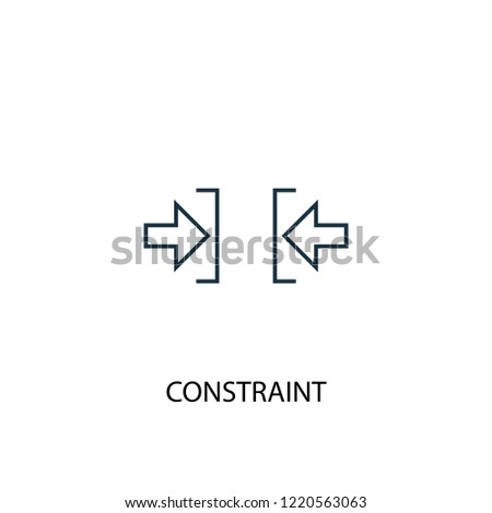 constraint concept line icon. Simple element illustration. constraint concept outline symbol design. Can be used for web and mobile UI/UX Stock photo ©