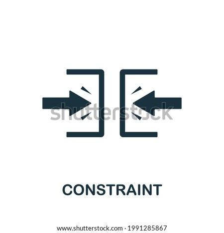 Constraint icon. Simple creative element. Filled monochrome Constraint icon for templates, infographics and banners Stock photo ©