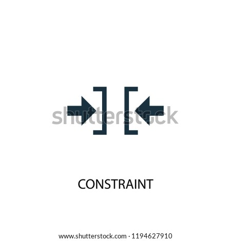 constraint icon. Simple element illustration. constraint concept symbol design. Can be used for web and mobile. Stock photo ©