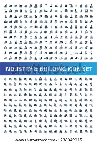 Construction and industrial vector icon set