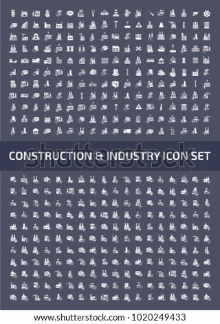 Construction and industry icon set design
