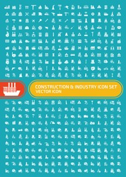 Construction and industry icon set,vector