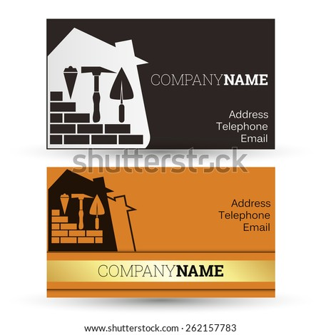 Construction and sale of homes, business card business