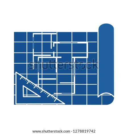 construction blue print icon-plan sign-drawing illustration-architecture sketch illustration-engineering vector-sketch sign