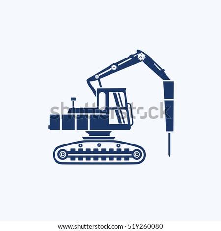 construction car icon design
