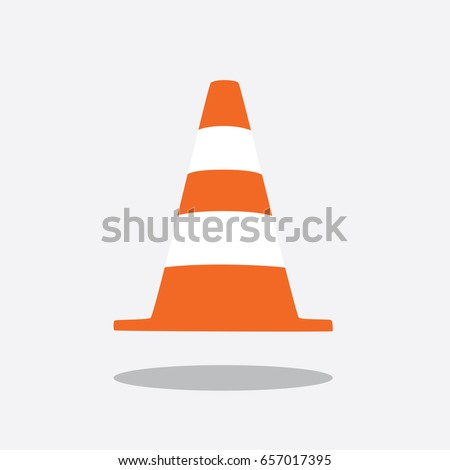Construction cone icon, vector illustration design. Tools collection.