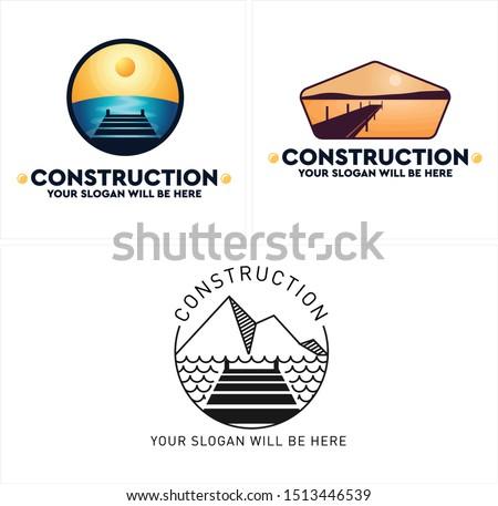 construction design logo with