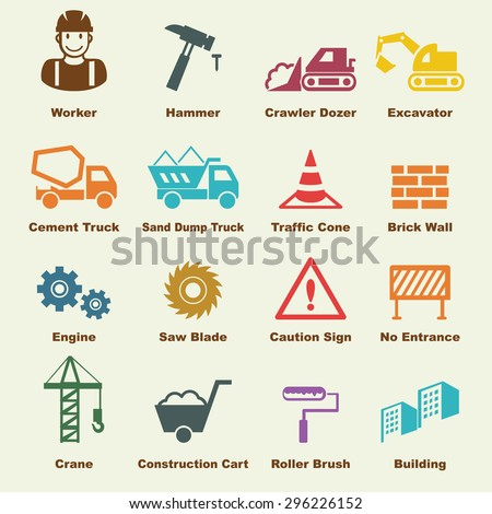 construction elements  vector