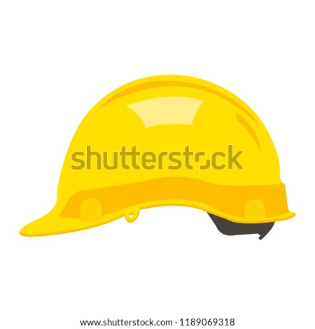 Construction helmet flat icon. You can be used helmet icon for several purposes like: websites, print templates, presentation templates, promotional materials, web and mobile phone apps.