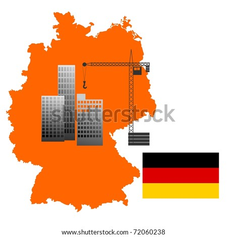 construction in  Germany. vector