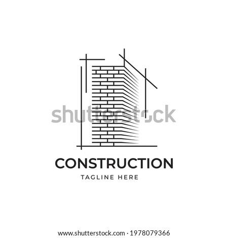 Construction logo design illustration vector template