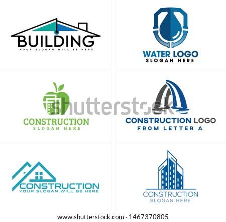 construction logo design with