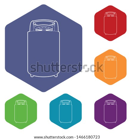 Construction machinery icon. Outline illustration of construction machinery vector icon for web
