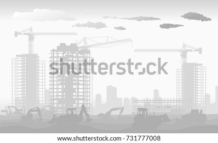 construction of a new district high-rise residential apartments