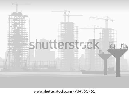 construction of a road bridge