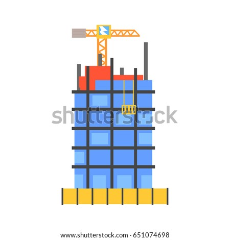 construction of building from