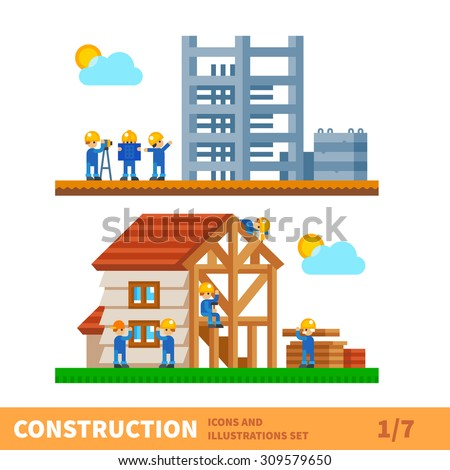 Construction Set Process Of Building The House