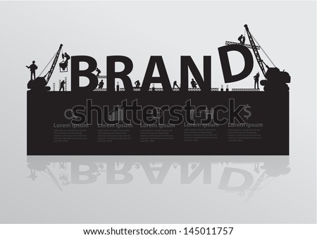 Construction site crane building brand text idea concept, Vector illustration template design