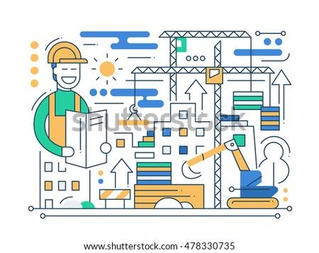 construction site   vector...
